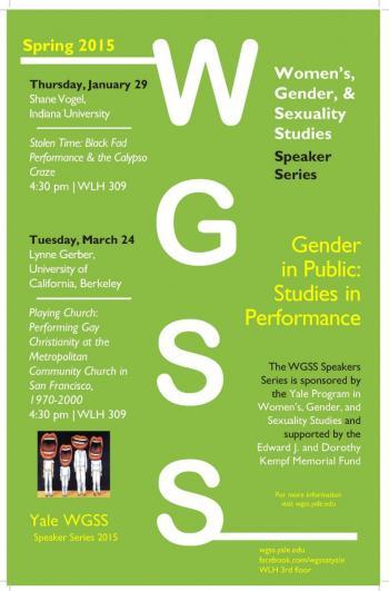 WGSS Spring 2015 Speaker Series | Women's, Gender, and